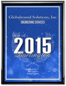 Globalsound Solutions Receives 2015 Best of Burlington Award